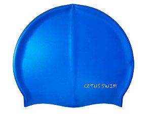Touca De Natação Adulto Silicone Azul - Cetus