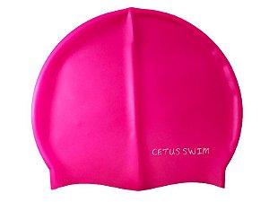 Touca De Natação Adulto Silicone Rosa - Cetus