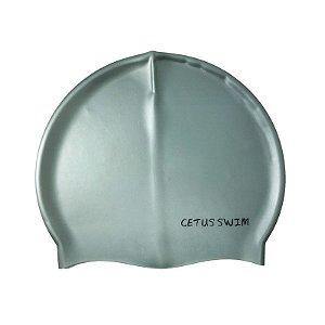 Touca De Natação Silicone Cinza - Cetus