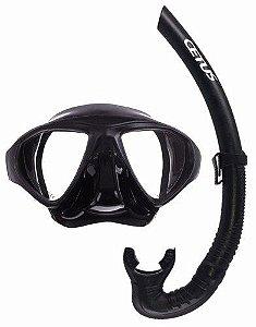 Kit Mergulho Spy Máscara+Snorkel Pesca Sub - Cetus