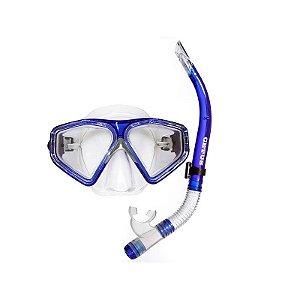 Kit Mergulho New Parma Royal Máscara+Snorkel - Cetus