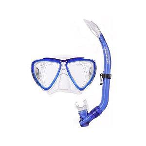 Kit Mergulho Bari Máscara+Snorkel Infantil - Cetus