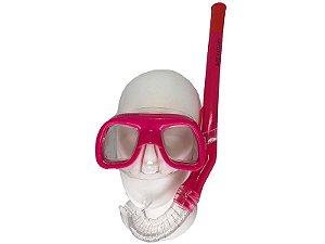 Kit Mergulho Firenze Máscara+Snorkel Infantil - Cetus