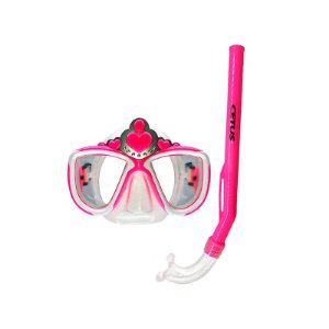 Kit Mergulho Máscara+Snorkel Infantil Princesa - Cetus