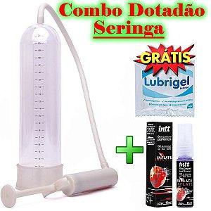 Combo Dotadão  Bomba Peniana Seringa + Spray Inflate – Aumenta o Pênis Rápido - LUBRIFICANTE GRÁTIS