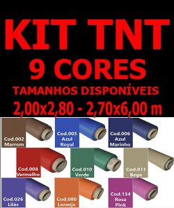 Kit Fundos Infinito TNT Coloridos