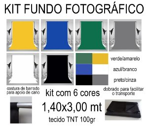 Kit 06 Fundos Infinito TNT Coloridos
