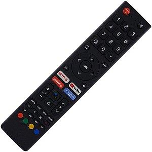 Controle Remoto TV LED Philco PTV75K90AGIB com Teclas Netflix Prime Vídeo