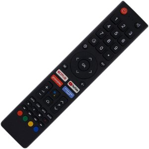 Controle Remoto TV LED Philco PTV82K90AGIB com Teclas Netflix Prime Vídeo