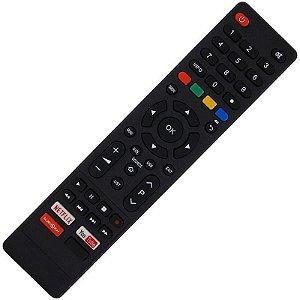 Controle Remoto TV LED Philco PTV70Q50SNSG com Netflix / Youtube / Globo Play