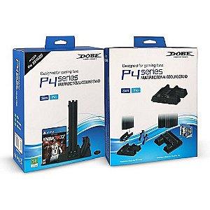 Base Vertical Carregador Cooler 3 In1 Ps4, Ps4 Slim, Ps4 Pro