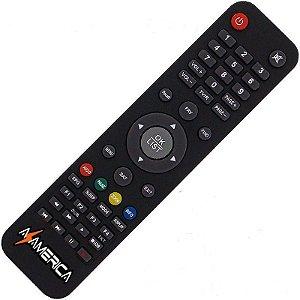 Controle Remoto Receptor Azamérica S1001 Plus HD