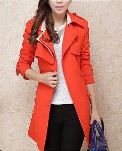 Trench Coat Orange (Pronta Entrega)