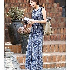 Maxi Vestido Azul (Pronta Entrega)