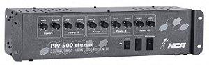 Conjunto 5 Amplificadores Potência Nca Pw500st Som Ambiente