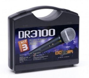 Kit 03 Microfones Donner Prof. Uni-dir. Dinâmico Dr3100