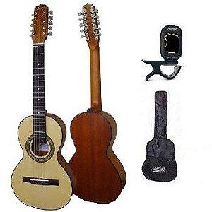 KIT Viola Rozini Caipira Ponteio - Acústica - Modelo RV151 + AFINADOR + CAPA