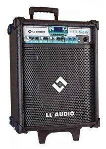 Caixa de Som Amplificada Multiuso Stone 250 com microfone e carrinho de transporte