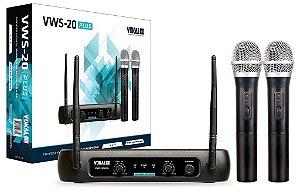 Microfone Sem fio VOKAL duplo VWS-20