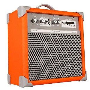 Caixa de Som Amplificada Multiuso UP!6 FM/USB/BLUETOOTH - Orange