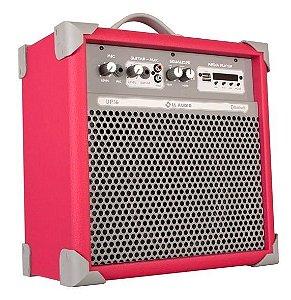 Caixa de Som Amplificada Multiuso UP!6 FM/USB/BLUETOOTH - Rosa