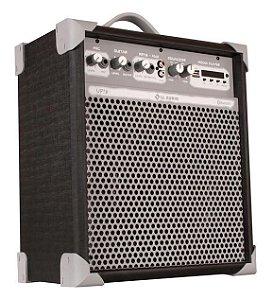 Caixa de Som Amplificada Multiuso UP!8 FM/USB/BLUETOOTH - Preta