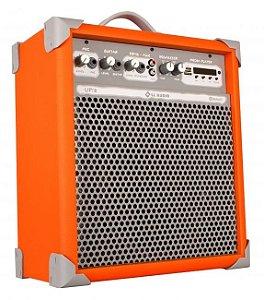 Caixa de Som Amplificada Multiuso UP!8 FM/USB/BLUETOOTH - Laranja