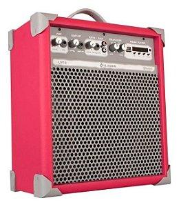 Caixa de Som Amplificada Multiuso UP!8 FM/USB/BLUETOOTH - Rosa