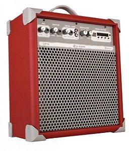 Caixa de Som Amplificada Multiuso UP!8 FM/USB/BLUETOOTH - Vermelha