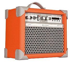 Caixa de Som Amplificada Multiuso UP!5 FM/USB/BLUETOOTH - Laranja