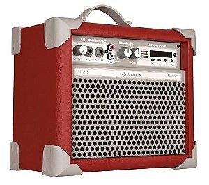 Caixa de Som Amplificada Multiuso UP!5 FM/USB/BLUETOOTH - Vermelha