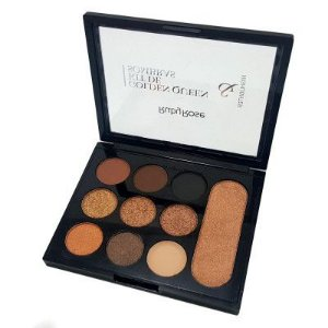 Paleta de Sombras e Iluminador Golden Queen Ruby Rose HB-1035