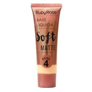 Base Líquida Soft Matte Bege 4 - Ruby Rose