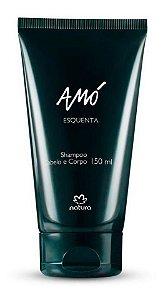 Amó Esquenta Shampoo Cabelo E Corpo 150ml Natura