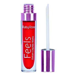 Batom Líquido Matte Feels 361 - Ruby Rose