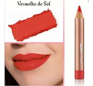 Eudora Batom Lápis Color Matte Vermelho Do Sol ( VALIDADE 11/2020 )