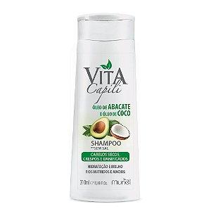Shampoo Vita Capili - Óleo de Acabate e Óleo de Coco