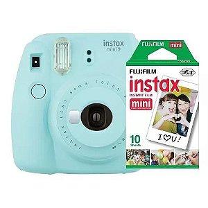 Câmera Fujifilm Instax Mini 9 Azul Aqua + Pack 10 Filmes
