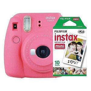 Câmera Fujifilm Instax Mini 9 Rosa Flamingo + Pack 10 Filmes