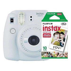 Câmera Fujifilm Instax Mini 9 Branco Gelo + Pack 10 Filmes