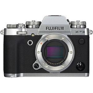 Câmera Digital Fujifilm X-T3 Corpo + Bateria Extra (Prata)