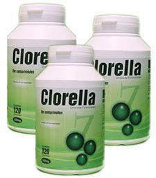 CLORELLA - 120 Cáp 500 mg - KIT 3 frascos