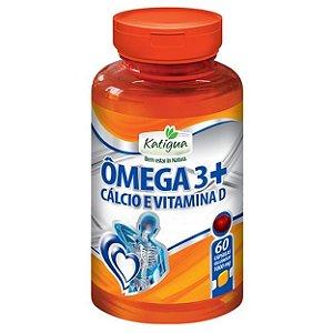 Ômega 3 + Cálcio e Vit D - 60 Cáp 1000 mg