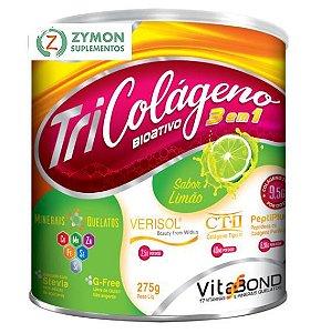 TriColágeno Bioativo 3 em 1 - 275g – Sabor Limão