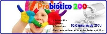 Probiótico 200 - para crianças e jovens - 60 Cáp