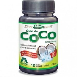 Óleo de Coco - 120 Cáp - 1000mg