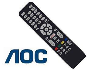 Controle Remoto TV AOC com botão Netflix Le43s5760 Le43s5970 Le50s5970 Le43s5977