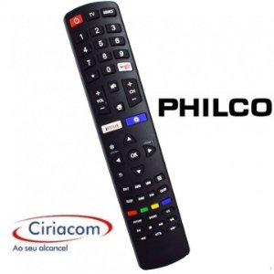Controle Remoto TV LED Philco com Netflix / Youtube / Internet (Smart TV)