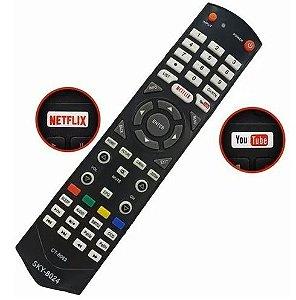 Controle Remoto Tv Semp Tcl Smart com Tecla netflix