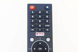 Controle Remoto TV Semp tcl CT-6810 / L32S3900S / L39S3900FS / L43S3900FS Netflix e Youtube